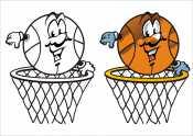 Баскетбол с цветным образцом