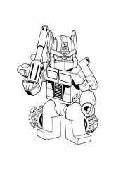 Раскраска Робот лего