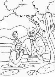 Раскраска Крещение