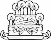 Торт со свечами