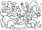 Казак и медведь
