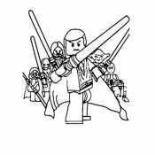 Раскраски Лего Звездные войны