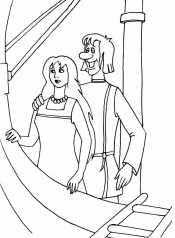 Иванушка и Забава на корабле
