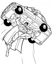 Супермен с машиной