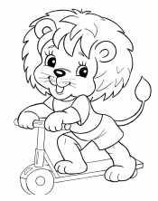 Львенок на самокате