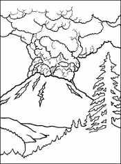 Вулкан раскраска