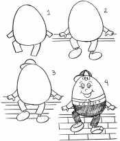 Как нарисовать Шалтай Болтая