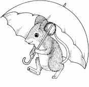 Мышонок Пик под зонтом