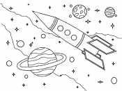Корабль в космосе