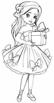 Девочка с бантиками