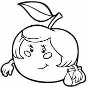 Девочка яблочко