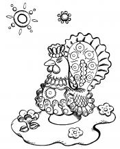 Дымковская игрушка павлин
