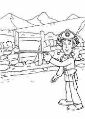 Раскраска пожарный Элвис