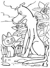 Котенок Гав и собака