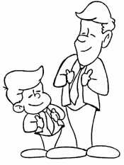 Папа и сын в костюме
