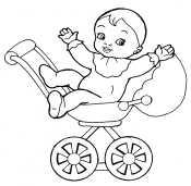 Коляска с малышом