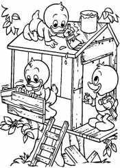 Утята строят домик