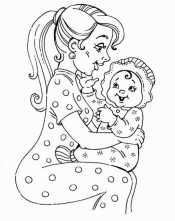 Мама с малышкой