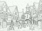 Зимний город в новый год