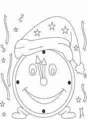 Новогодние часы в шапке