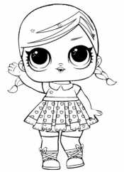Кукла Лол с косами