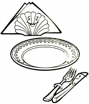 Тарелка и ложка