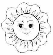 Картинки раскраски солнышко для детей