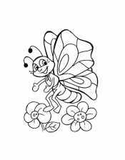 Бабочка из мультфильма
