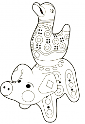 Дымковская игрушка звери