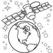 Спутник и планета Земля