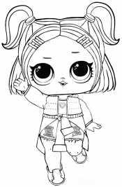 Кукла Лол с хвостиками