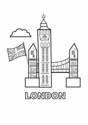 Раскраска Лондон