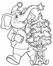 Слон с елкой