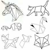 Раскраска Оригами