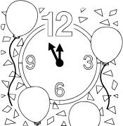 Новогодние часы Шары