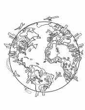 Раскраски планета Земля