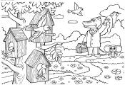 Весенний пейзаж Гена и чубурашка