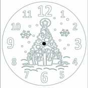 Новогодние часы с елкой