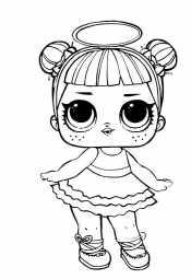 Кукла Лол с нимбом