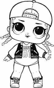 Кукла Лол в кепке