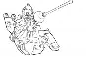 Рыцарь лего на механическом коне