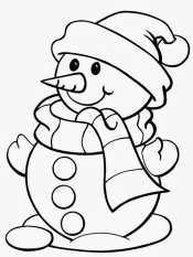 Снеговик раскраска для детей