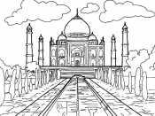 Раскраска Тадж - Махал