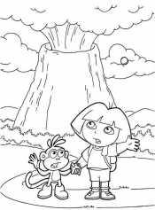 Даша следопыт и вулкан