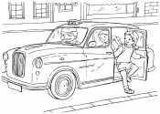 Такси с людьми