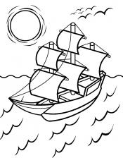 Парус на корабле