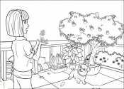 Макена в саду