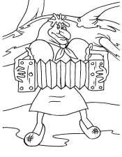 Бабка - Ёжка с гармошкой