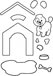 Аппликация щенок
