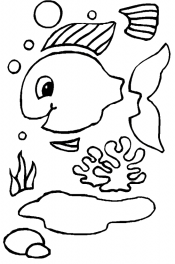 Аппликация рыбка